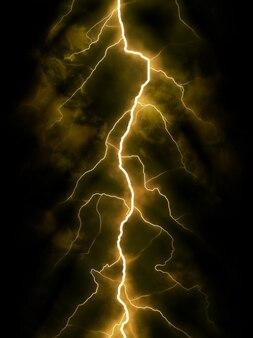 Tormenta la noche la luz del flash