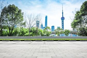 Torre urbana escena cielo moderno