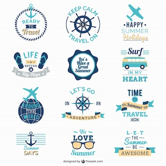 Logos de viajar y navegar