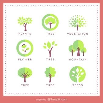Plantillas de logotipo de árboles