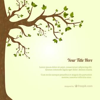 Plantilla de árbol con hojas