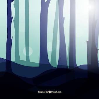 Siluetas de árboles de fondo
