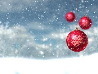 Tres bolas descargar fotos gratis - Bolas de navidad rojas ...
