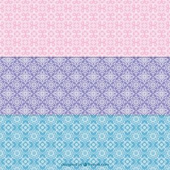 Tres patrones geométricos abstractos