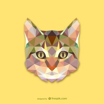 Vector cabeza de gato