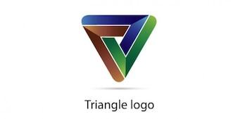 Logotipo de triángulo en tres colores