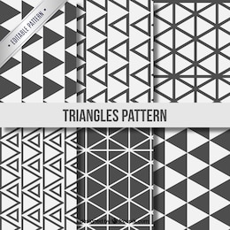 Triángulo colección patrones