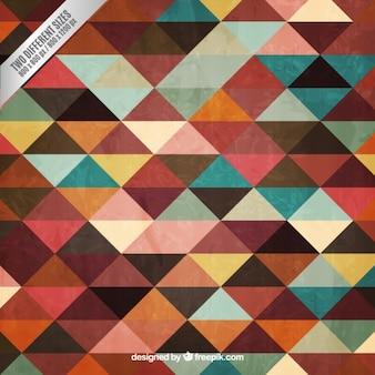 Triángulos de colores de fondo