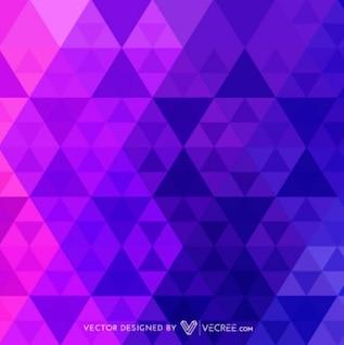 Triángulos de fondo en tonos púrpura y rosa