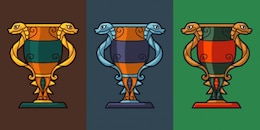 Trofeo concepto jarrón con serpientes