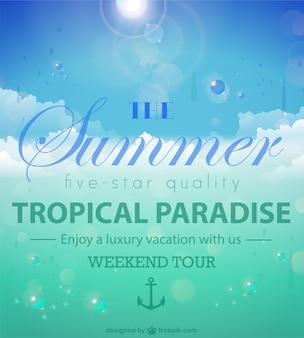 Vector de paraíso tropical de verano