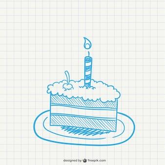 Trozo de tarta con vela
