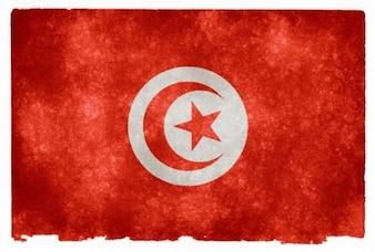 Túnez grunge bandera