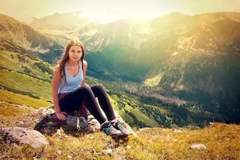 Turismo en las montañas.