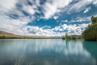 Turismo lluvioso canterbury lago tiempo