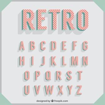 Tipografía en estilo retro