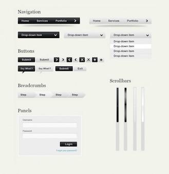 ui limpio web moderno creado psd