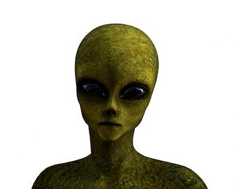 Un alienígena verde