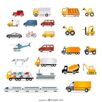 una amplia gama de transporte vector