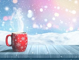 Una bebida caliente para navidad