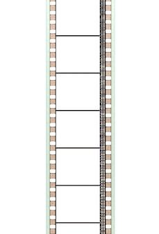 Una tira de película de cine