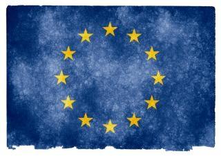 Unión europea bandera del grunge antiguo