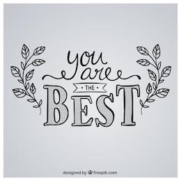 Usted es el mejor en el estilo escrito a mano