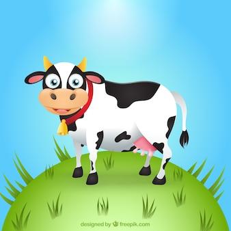 Vaca divertida de dibujos animados