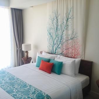 Vacaciones habitación juvenil marrón dormir
