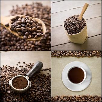 Vajilla de café de semillas bebida de la mañana
