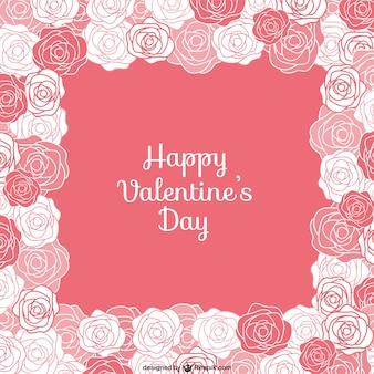 Tarjeta de San Valentín con rosas