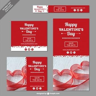 Conjunto de banners de San Valentin