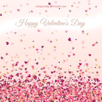 Tarjeta de San Valentín con corazones pequeños