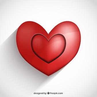 Tarjeta de San Valentín con dos corazones