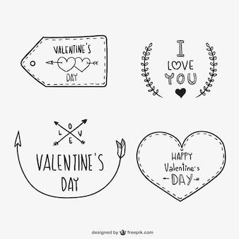 Ornamentos del día de San Valentín