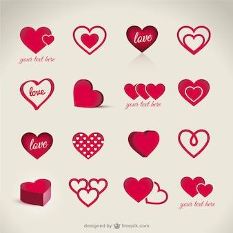 Pack de corazones de San Valentín