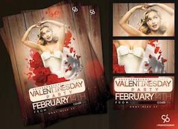 valentines day flyer encantadora fiesta disco
