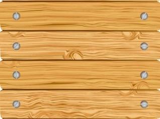 Valla de madera con placas atornilladas horizontales