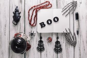 Varias decoraciones de Halloween