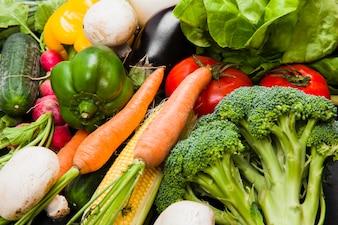 Varias verduras frescas