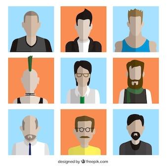 Variedad de avatares masculinos