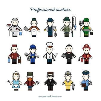 Variedad de avatares profesionales