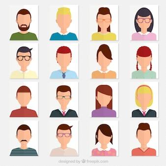 Variedad de avatares
