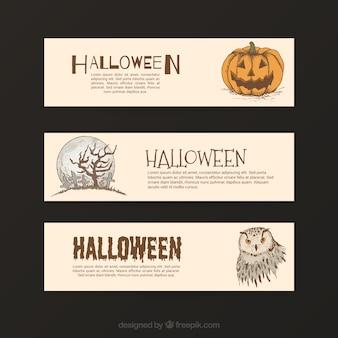 Variedad de banners de halloween