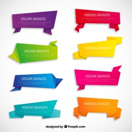 Variedad de banners origami
