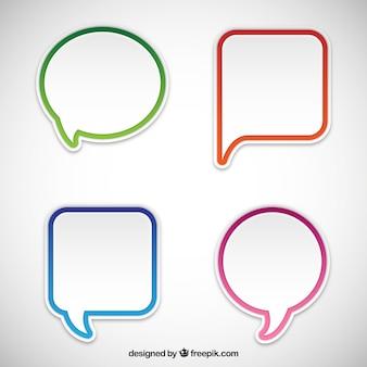 Variedad de bocadillos de diálogo
