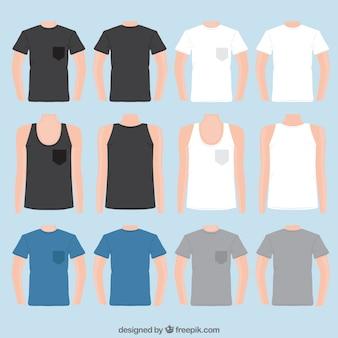 Variedad de camisetas