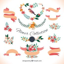 Variedad de decoración floral