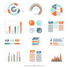 Variedad de diagramas infográficas