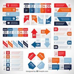 Variedad de diagramas infográficos